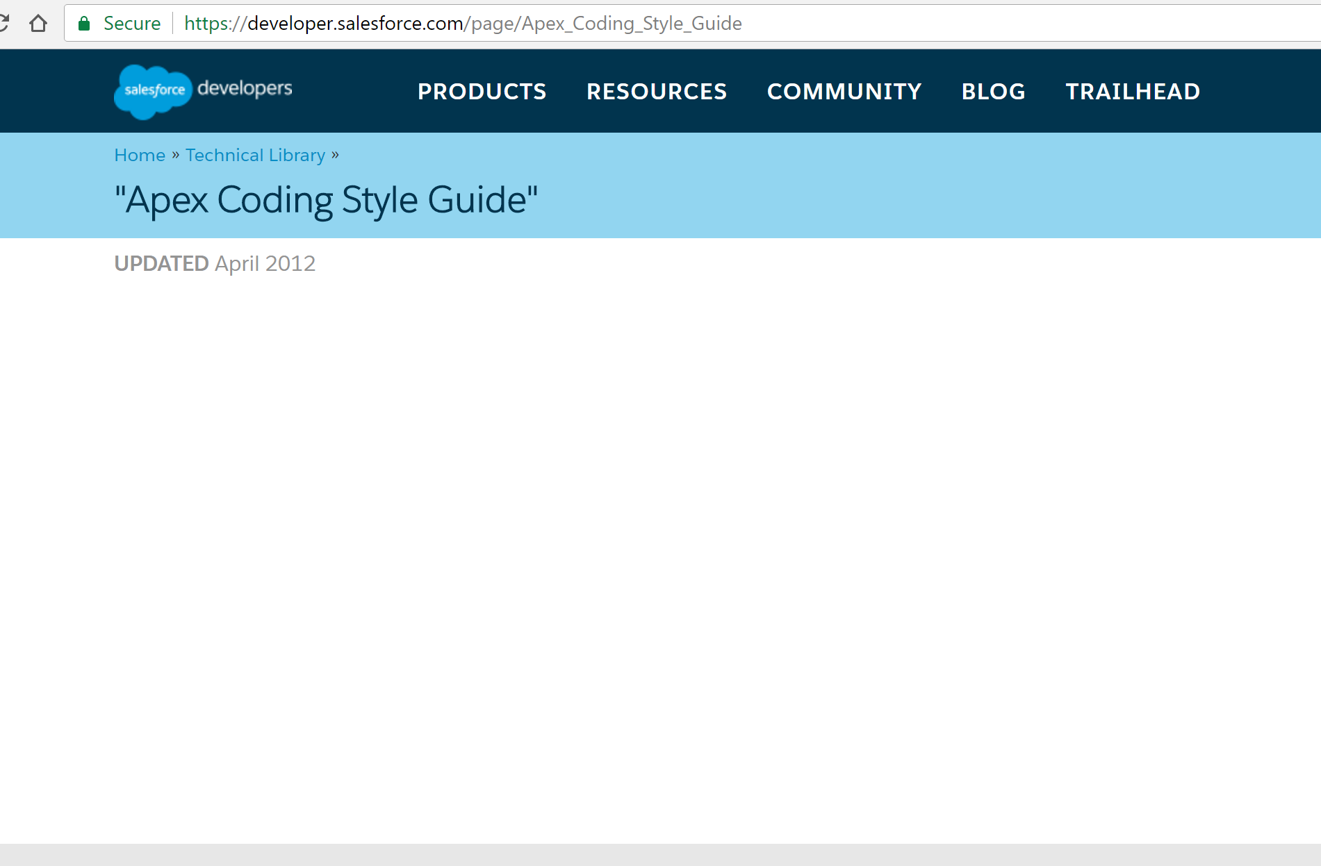 Salesforce Apex StyleGuide